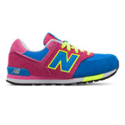 NB 574 Cut and Paste, Blue with Really Red