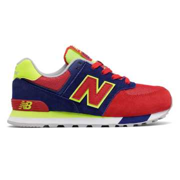 New Balance 574 Cut and Paste, Basin with Red