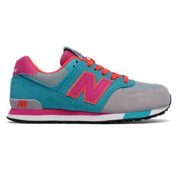 New Balance 574 Cut and Paste, Blue Atoll with Grey