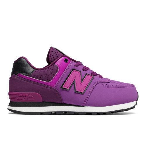 574 New Balance Kids Shoes - Purple/Black (KL574YEG) 191264031746