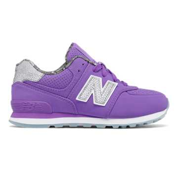 New Balance 574 Luxe Rep, Flourescent Purple