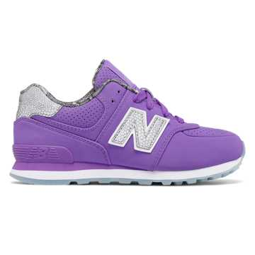 New Balance 574 Luxe Rep, Fluorescent Purple