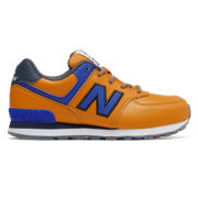 NB New Balance 574, Dark Yellow with Blue