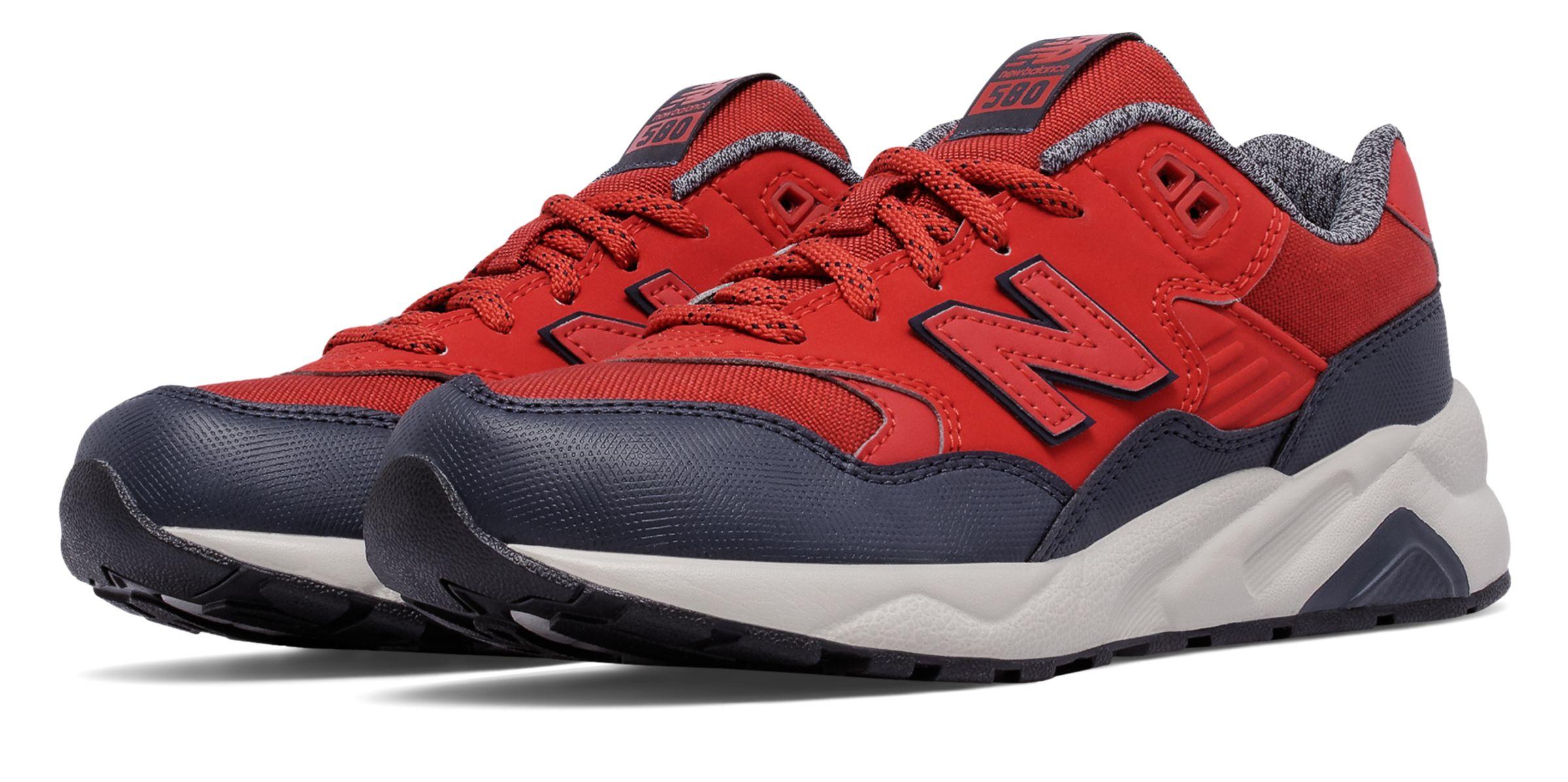New Balance 580 Grade - school Boys Shoes Red