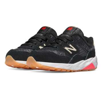 New Balance 580 Lost Worlds, Black with Red
