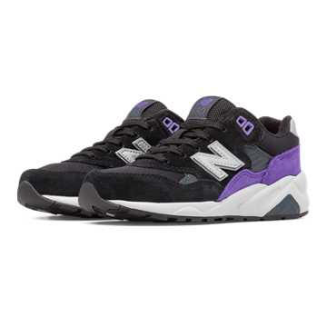 New Balance 580 New Balance, Black with Purple & Silver