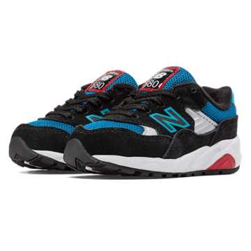 New Balance 580 New Balance, Black with White & Bolt