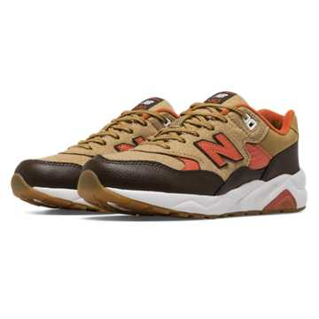 New Balance 580 Deep Freeze, Brown with Tan & Orange