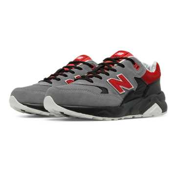 New Balance 580 Deep Freeze, Grey with Black & Red