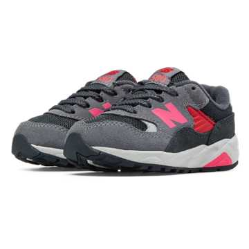 New Balance 580 New Balance, Grey with Coral Pink & Silver