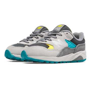 New Balance 580 New Balance, Grey with Light Yellow & Bolt