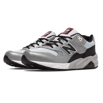 New Balance 580 New Balance, Silver with Black & Light Grey