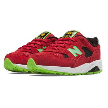 New Balance 580 New Balance, Red with Black & Lime Green