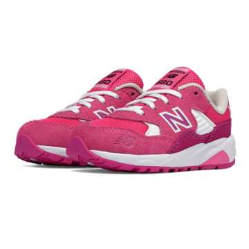 New Balance 580 Paper Lights, Pink with White