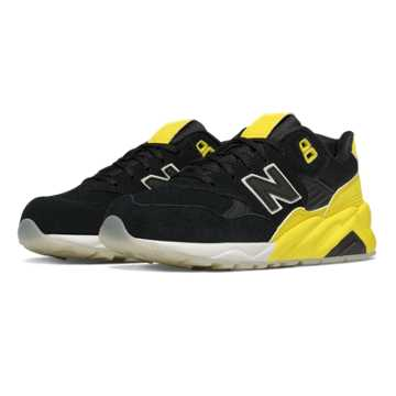 New Balance 580 Solarized, Yellow with Black