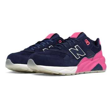 New Balance 580 Solarized, Navy with Pink