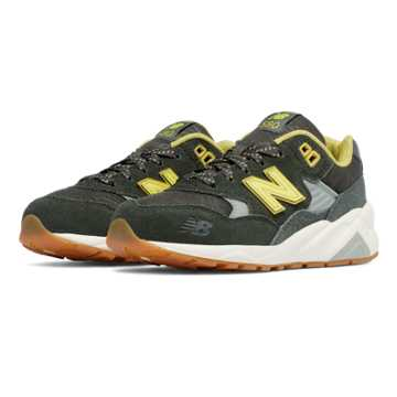 New Balance 580 Wanderlust, Dark Green with Yellow