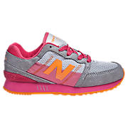 New Balance 751, Grey with Pink & Orange