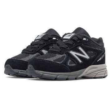 New Balance Reflective 990v4, Black with Silver