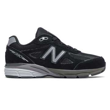 New Balance Reflective 990v4, Black with Silver