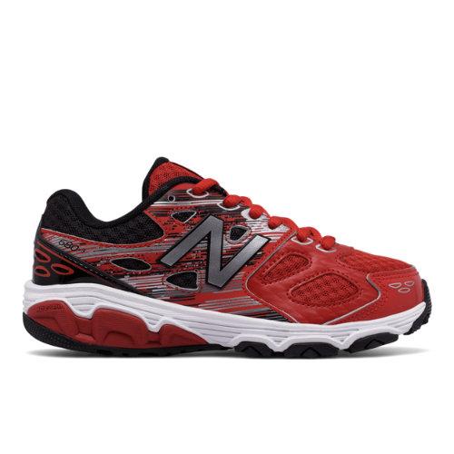 New Balance 680v3 Kids Grade School Running Shoes - Red/Black (KR680DXY) 190737562244