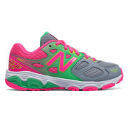 NB New Balance 680v3, Grey with Pink & Neon Green