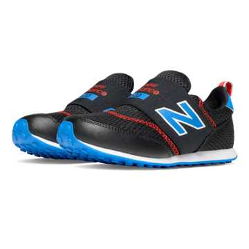 New Balance 620 Hook and Loop, Black with Blue