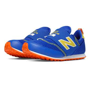 New Balance 620 Hook and Loop, Blue with Yellow