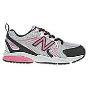 New Balance 500, Grey with Black & Pink