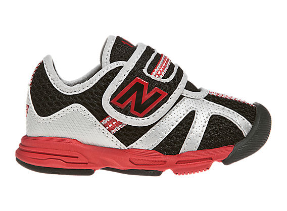 New Balance 102, Black with Red & Silver