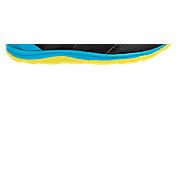 New Balance 110, Black with Blue Atoll & Yellow