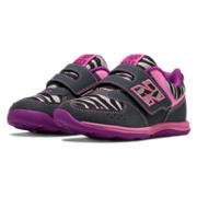 New Balance 111, Black with Bubble Gum Pink & White