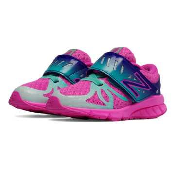 New Balance Hook and Loop 200, Pink Zing with Teal & Purple