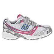 New Balance 328, White with Diva Pink & Blue