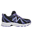 New Balance 554, Black with Purple