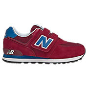 New Balance 574, Red with Classic Blue & White