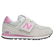 New Balance 574, White with Pink