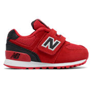 NB 574 Hook and Loop High Visibility, Red with Black