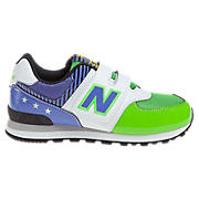 New Balance 574, Green with White & Purple