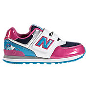 New Balance 574, Pink with White & Blue