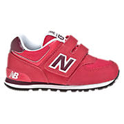 New Balance 574, Ruby with Red