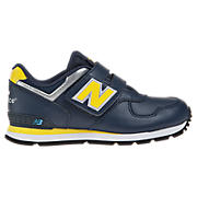 New Balance 584, Navy with Yellow