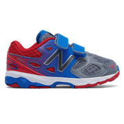 NB New Balance 680v3, Grey with Dark Cyan & Red