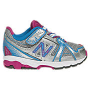 New Balance 689, Silver with Blue Grotto & Purple Cactus Flower
