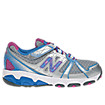 New Balance 689, Silver with Vision Blue & Purple Cactus Flower