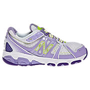 New Balance 689, Silver with Violet Tulip & Fluorescent Lime