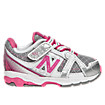 New Balance 689, Silver with Raspberry