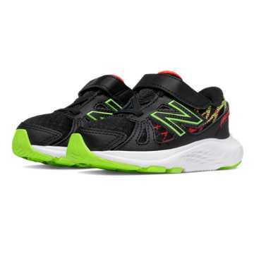 New Balance Hook and Loop 690v4, Black with Toxic