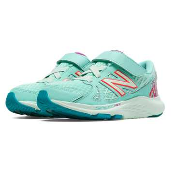 New Balance Hook and Loop 690v4, Blue Light with Purple & Bubble Gum Pink