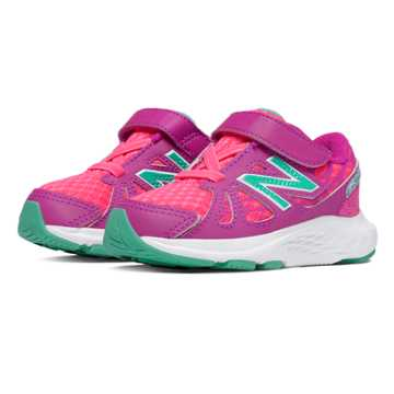 New Balance Hook and Loop 690v4, Pink Glo with Mint Green